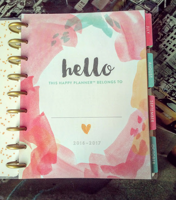 happy planner hello life inside page