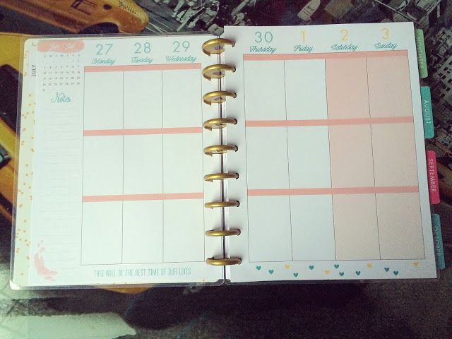 happy planner hello life weekly view