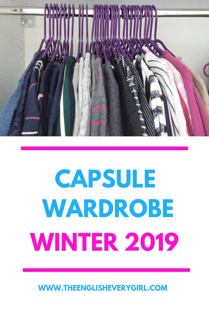 Capsule wardrobe winter 2019 pinterest